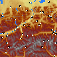 Nearby Forecast Locations - Wildschönau - Carta