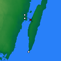 Nearby Forecast Locations - Öland Bridge - Carta