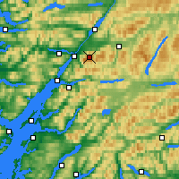 Nearby Forecast Locations - Ben Nevis - Carta