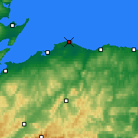 Nearby Forecast Locations - Lossiemouth - Carta