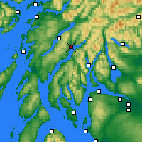 Nearby Forecast Locations - Inveraray - Carta