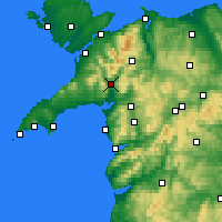 Nearby Forecast Locations - Porthmadog - Carta