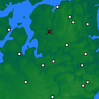 Nearby Forecast Locations - Aalestrup - Carta