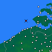 Nearby Forecast Locations - Vlakte van de Raan - Carta