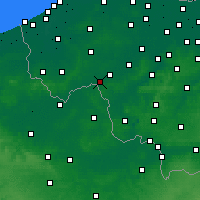 Nearby Forecast Locations - Wevelgem - Carta