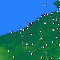 Nearby Forecast Locations - Middelkerke - Carta