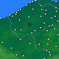 Nearby Forecast Locations - Roeselare - Carta