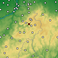 Nearby Forecast Locations - Malmedy - Carta