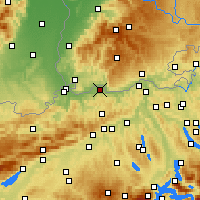 Nearby Forecast Locations - Möhlin - Carta