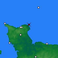 Nearby Forecast Locations - Barfleur - Carta