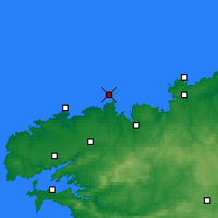Nearby Forecast Locations - Île de Batz - Carta
