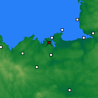 Nearby Forecast Locations - Dinard - Carta