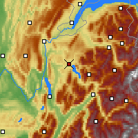 Nearby Forecast Locations - Annecy - Carta