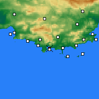 Nearby Forecast Locations - Tolone - Carta
