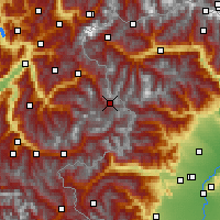 Nearby Forecast Locations - Val-d'Isère - Carta
