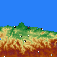 Nearby Forecast Locations - Gijón - Carta
