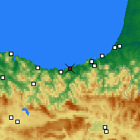 Nearby Forecast Locations - San Sebastián - Carta