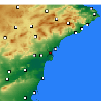 Nearby Forecast Locations - El Alted - Carta