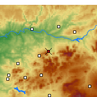 Nearby Forecast Locations - Jaén - Carta