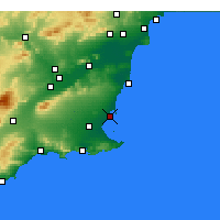 Nearby Forecast Locations - San Javier - Carta