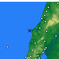 Nearby Forecast Locations - Cabo Carvoeiro - Carta