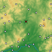Nearby Forecast Locations - Gießen - Carta