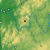Nearby Forecast Locations - Spessart - Carta