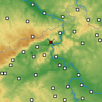 Nearby Forecast Locations - Ústí nad Labem - Carta