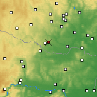 Nearby Forecast Locations - Kuchařovice - Carta