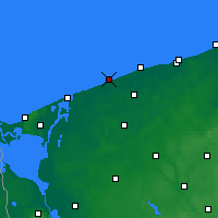 Nearby Forecast Locations - Niechorze - Carta