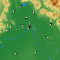 Nearby Forecast Locations - Záhony - Carta