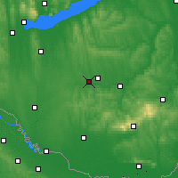 Nearby Forecast Locations - Kaposvár - Carta