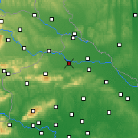 Nearby Forecast Locations - Varaždin - Carta