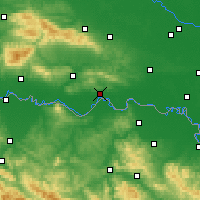 Nearby Forecast Locations - Slavonski Brod - Carta