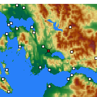 Nearby Forecast Locations - Agrinio - Carta