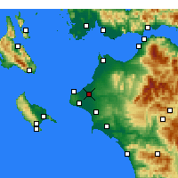 Nearby Forecast Locations - Andravida - Carta
