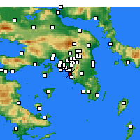 Nearby Forecast Locations - Atene - Carta