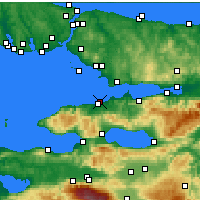 Nearby Forecast Locations - Yalova - Carta