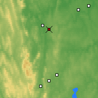 Nearby Forecast Locations - Nižnij Tagil - Carta
