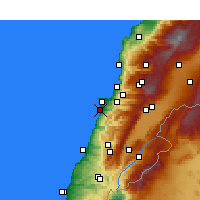 Nearby Forecast Locations - Beirut - Carta