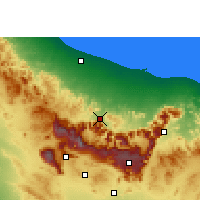 Nearby Forecast Locations - Rustaq - Carta