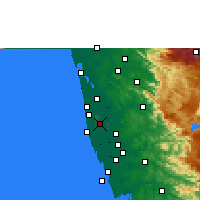 Nearby Forecast Locations - Alappuzha - Carta
