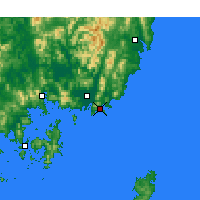 Nearby Forecast Locations - Pusan - Carta