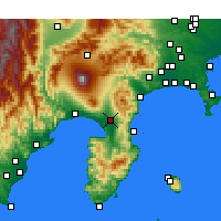 Nearby Forecast Locations - Mishima - Carta