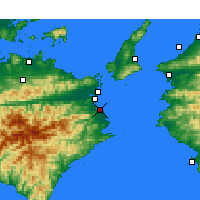 Nearby Forecast Locations - Komatsushima - Carta