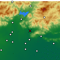 Nearby Forecast Locations - Pinggu - Carta