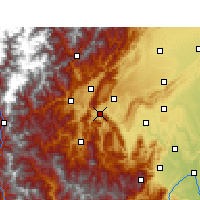 Nearby Forecast Locations - Ya'an - Carta