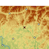 Nearby Forecast Locations - Bazhong - Carta