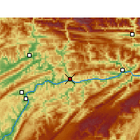 Nearby Forecast Locations - Yunyang - Carta