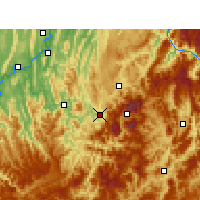 Nearby Forecast Locations - Wansheng - Carta